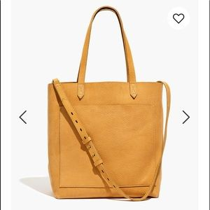 madewell medium transport tote bright marigold NWT